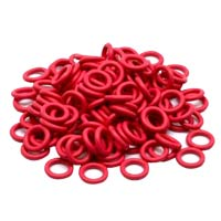 WASD Keyboards Cherry MX Rubber Red 0.2mm O-Ring Switch Dampeners - 125 Pieces