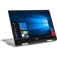 "Dell Inspiron 14 5491 14"" 2-in-1 Laptop Computer Refurbished - Silver"