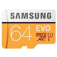 Samsung 64GB EVO V5 NANA microSDXC Class 10 / U1 Flash Memory Card with Adapter