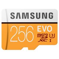 Samsung 256GB EVO V5 NANA microSDXC Class 10 / U3 Flash Memory Card with Adapter