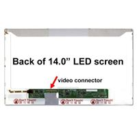 "14.0"" Replacement Laptop LCD Screen HD 1366x768 Glossy 40-Pin Left-Side Connector"