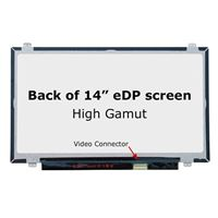 "14.0"" Replacement Laptop LCD Screen FHD 1920x1080 IPS High Gamut Matte 30-Pin Right-Side Connector"