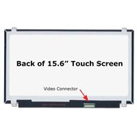 "15.6"" Replacement Laptop LCD Screen HD 1366x768 Glossy 40-Pin Right-Side Connector"
