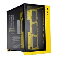 Lian Li PC-O11 Dynamic Tempered Glass eATX Full Tower Computer Case - Yellow