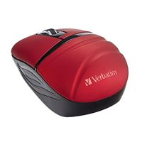 Verbatim Wireless Mini Travel Mouse, Commuter Series-Red