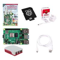 Raspberry Pi Official Pi 4 Essentials Kit - 4GB