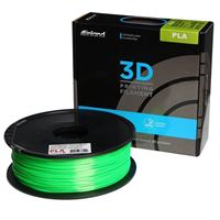 Inland 1.75mm Green Silk PLA 3D Printer Filament - 1kg Spool (2.2 lbs)
