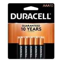 Duracell CopperTop AAA Alkaline Battery - 10 Pack
