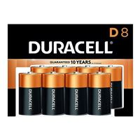 Duracell CopperTop D Alkaline Battery - 8 Pack