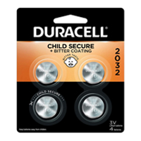 Duracell CR2032 3 Volt Lithium Coin Cell Battery - 4 Pack