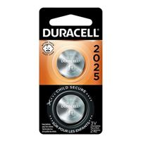 Duracell CR2025 3 Volt Lithium Coin Cell Battery - 2 Pack