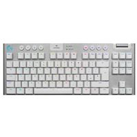 Logitech G G915 TKL Tenkeyless LIGHTSPEED Wireless RGB Mechanical Gaming Keyboard (White) - Tactile Switch