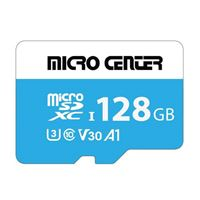 Micro Center Premium 128GB microSDXC Card UHS-I Flash Memory Card C10 U3 V30 A1 Micro SD Card with Adapter