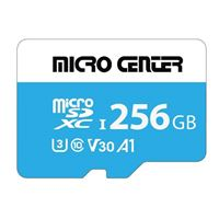 Micro Center Premium 256GB microSDXC Card UHS-I Flash Memory Card C10 U3 V30 A1 Micro SD Card with Adapter