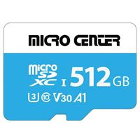 Micro Center 512GB microSDXC Class 10 / U3 / V30 / A1 Flash Memory Card with Adapter