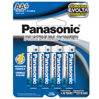 Panasonic Energy of America Platinum Power AA Alkaline Battery - 4 pack