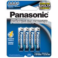 Panasonic Energy of America Platinum Power AAA Alkaline Battery - 4 pack