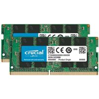 Crucial 16GB 2 x 8GB DDR4-2666 PC4-21300 CL-19 SO-DIMM Memory Kit...