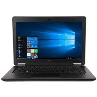 "Dell Latitude E7250 12.5"" Laptop Computer Off Lease - Black"