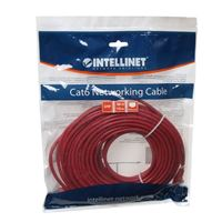 Intellinet RJ45 Male to RJ45 Male Cat6 Snagless Network Cable 50 ft. - Red