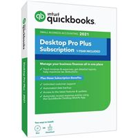 Intuit QuickBooks Desktop Pro Plus 2021 1-Year Subscription