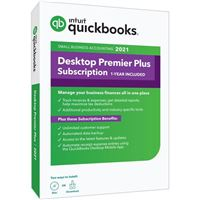 Intuit QuickBooks Desktop Premier Plus 2021 1-Year Subscription