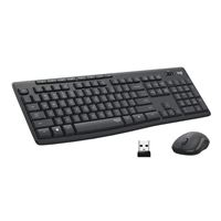 Logitech MK295 Silent Wireless Keyboard and Mouse Combo - Graphite