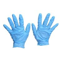 Single-Use Large Disposable Gloves Blue - 50 Pair