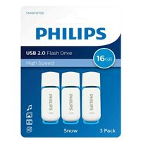 Philips 16GB Snow Edition USB 2.0 Flash Drive Blue 3 Pack