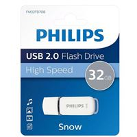 Philips 32GB Snow Edition USB 2.0 Flash Drive Gray