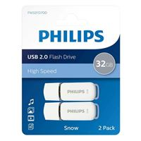 Philips 32GB Snow Edition USB 2.0 Flash Drive Gray 2 Pack