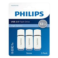 Philips 32GB Snow Edition USB 2.0 Flash Drive Gray 3 Pack