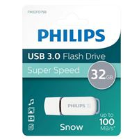 Philips 32GB Snow Edition USB 3.1 (Gen 1 Type-A) Flash Drive Gray