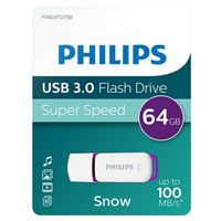 Philips 64GB Snow Edition USB 3.1 (Gen 1 Type-A) Flash Drive Purple
