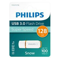 Philips 128GB Snow Edition USB 3.1 (Gen 1 Type-A) Flash Drive Orange