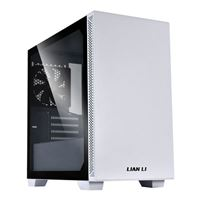 Lian Li Lancool 205M Tempered Glass microATX Mid-Tower Computer Case - White