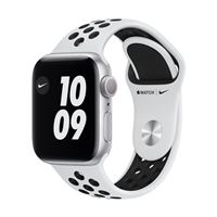 Apple Watch Series Nike SE GPS 40mm Silver Aluminum Smartwatch - Pure Platinum/ Black Nike Sport Band