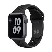 Apple Watch Series Nike SE GPS 40mm Space Gray Aluminum Smartwatch - Anthracite/ Black Nike Sport Band