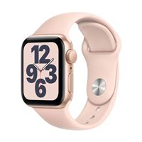 Apple Watch Series SE GPS 40mm Gold Aluminum Smartwatch - Pink Sand Sport Band