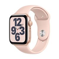 Apple Watch Series SE GPS 44mm Gold Aluminum Smartwatch - Pink Sand Sport Band