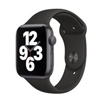 Apple Watch Series SE GPS 44mm Space Gray Aluminum Smartwatch - Black Sport Band