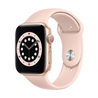 Apple Watch Series 6 GPS 44mm Gold Aluminum Smartwatch - Pink Sand Sport Band