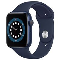Apple Watch Series 6 GPS 44mm Blue Aluminum Smartwatch - Deep Navy Sport Band