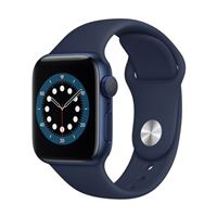 Apple Watch Series 6 GPS 40mm Blue Aluminum Smartwatch - Deep Navy Sport Band