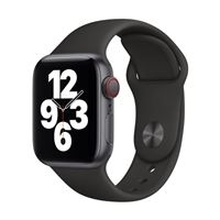Apple Watch Series SE GPS/Cellular 40mm Space Gray Aluminum Smartwatch - Black Sport Band