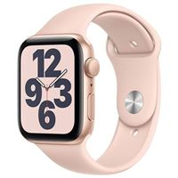 Apple Watch Series SE GPS/ Cellular 44mm Gold Aluminum Smartwatch - Pink Sand Sport Band