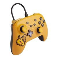 PowerA Pokemon Enhanced Wired Controller for Nintendo Switch - Pixel Pikachu