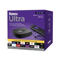 Roku Ultra (2020 Model) Streaming Media Player, HD/4K/HDR/, Dolby Vision with Dolby Atmos, Bluetooth, Voice Remote with Headphone Jack and Personal Shortcuts, Includes Premium HDMI Cable