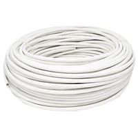 Micro Connectors CAT6 Solid/Shielded Bulk Ethernet 23AWG Cable 250 ft. - White