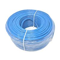 Micro Connectors 250 Feet CAT6A Solid/ Shielded Bulk Ethernet 23AWG Cable - Blue